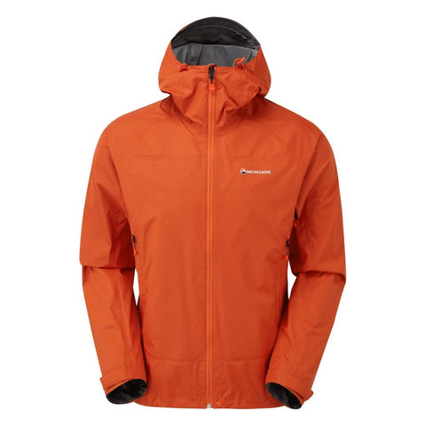 Montane Mens Atomic Waterproof Jacket Firefly Orange