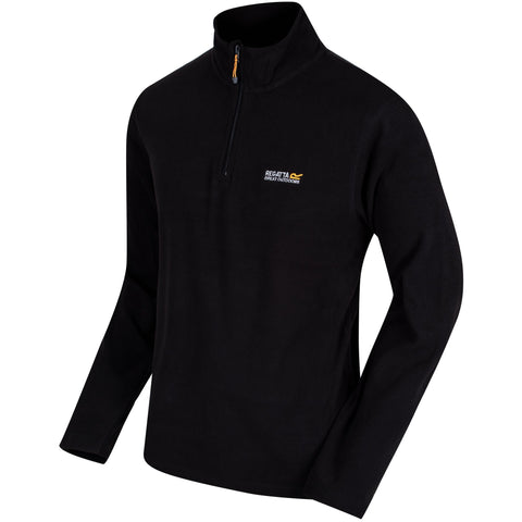 Regatta Men's Thompson Half Zip Lightweight Fleece Black