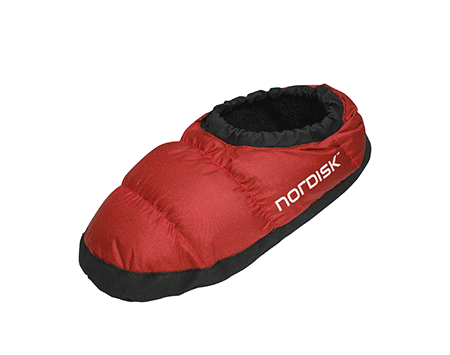 Nordisk Mos Down Slippers Ribbon Red