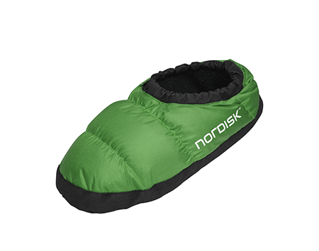 Nordisk Mos Down Slippers Peridat Green