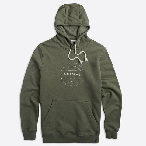 Animal Mens Late Hoody Olive
