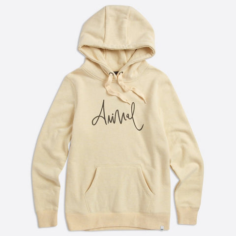 Animal Womens Sketched Hoody Merangue Yellow