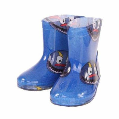 Infants Blue Monster Wellies