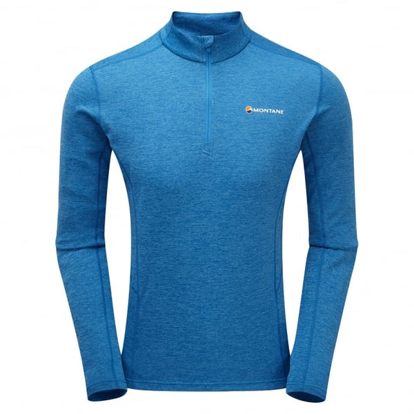 Montane Men's Dart Zip Neck-Electric Blue