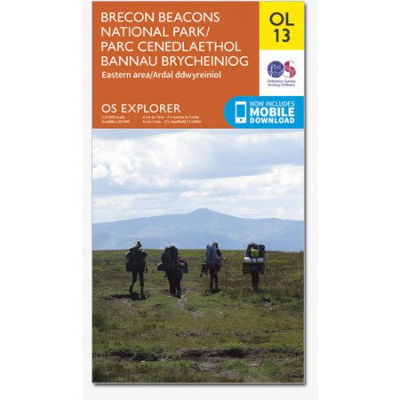 Ordnance Survey OL13 Brecon Beacons (Eastern Area)