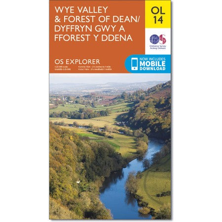 Ordnance Survey OL14 Wye Valley & Forest Of Dean