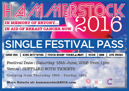 Hammerstock 2016 Single Entry Ticket