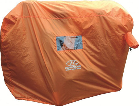 Waterproof and windproof AB-TEX shelter with PVC clear windows