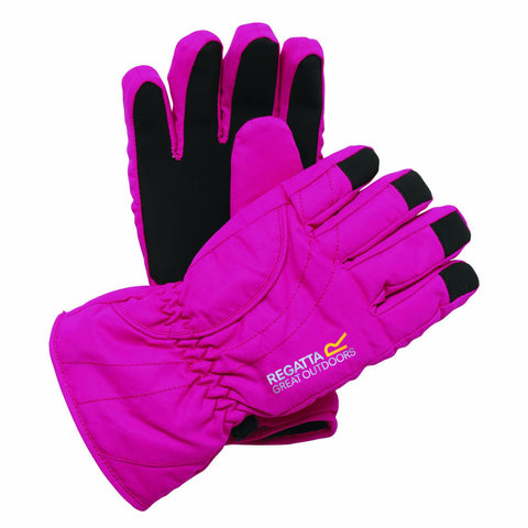 Regatta Girl's Arlie Waterproof Glove Pink