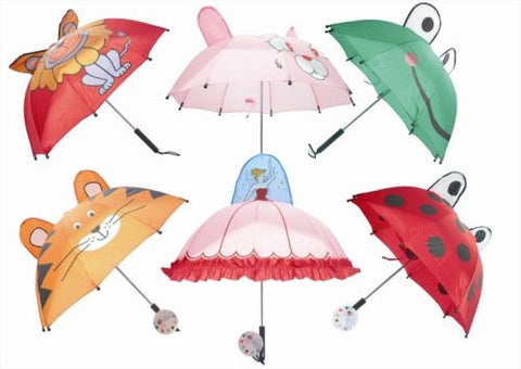 Kid's Character Umbrella Various Colours