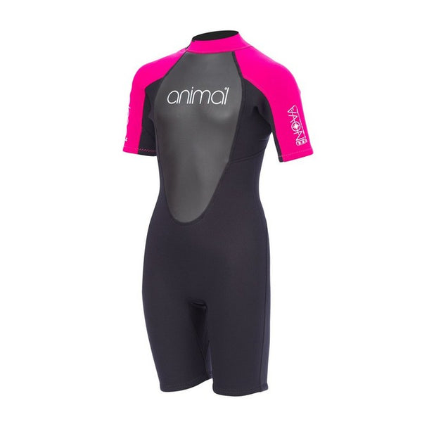 Animal Girl's Nova Shorty 3/2  Back Zip Wetsuit