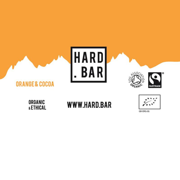 HardBar Energy Bar Flavour Orange and Cocoa