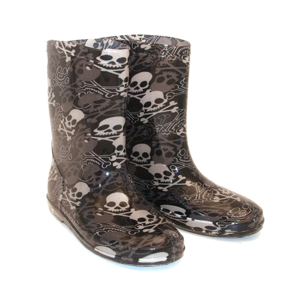 Kid's Skull & Crossbone Wellies