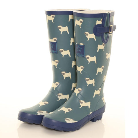 Hawkins Women's Wellie Pugs Design