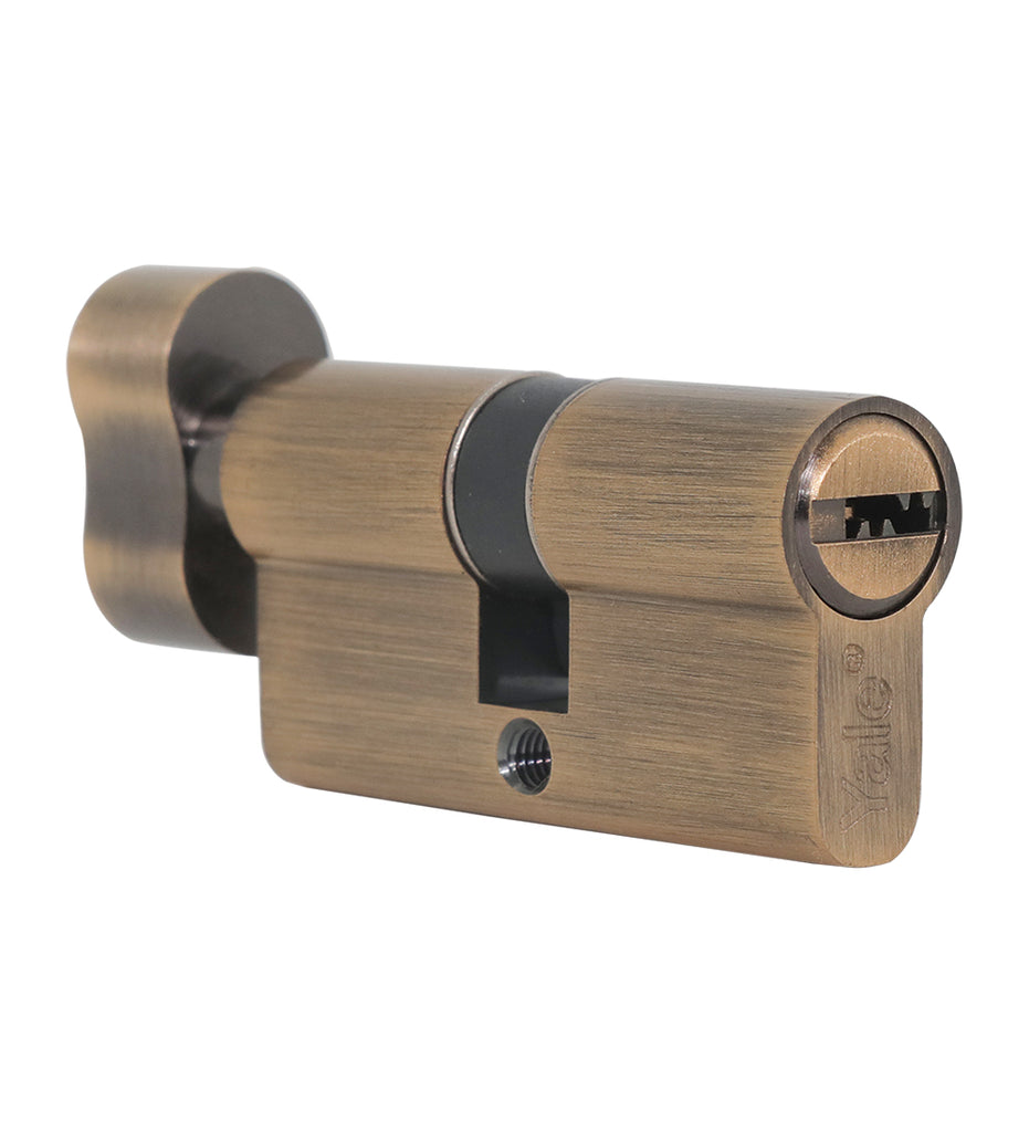 60 MM TT AB DK-S Cylinder with Inside Thumbturn,  AB,Dimpled Key