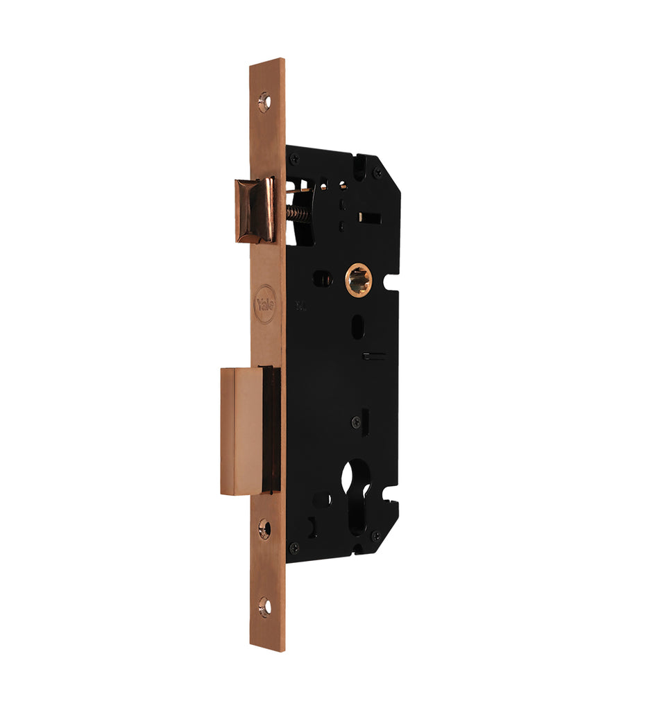 24-8560 Brass 04 PRG - Yale Mortise Lock, 85Mm C/C And 60Mm Bs, PVD RG
