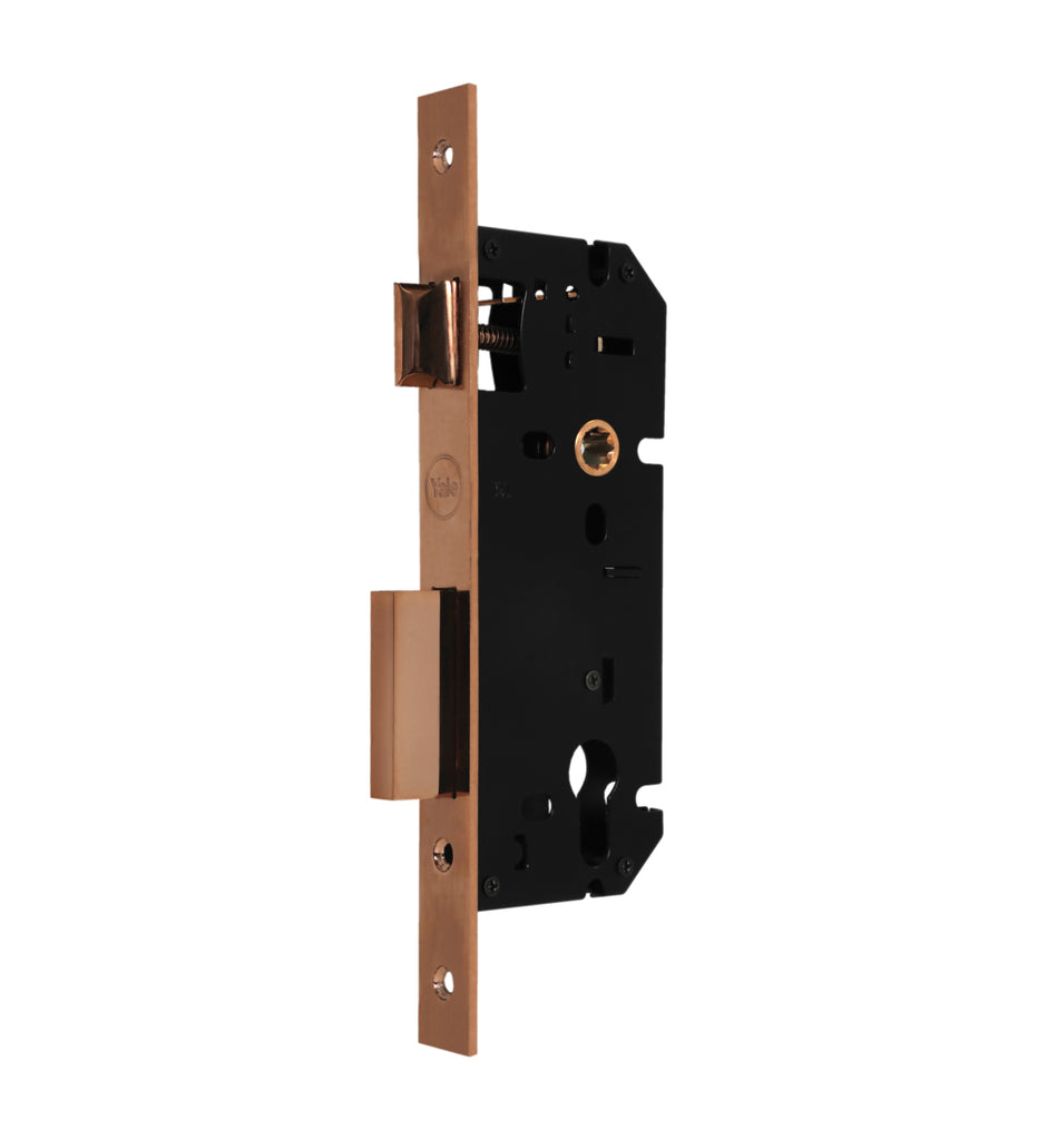 24-8545 Brass 04 PRG - Yale Mortise Lock, 85Mm C/C And 45Mm Bs, PVD RG