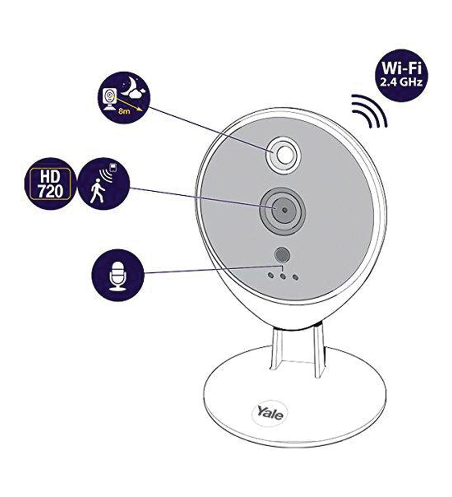 WIPC-301W Smart IP Camera, White - Yale Online