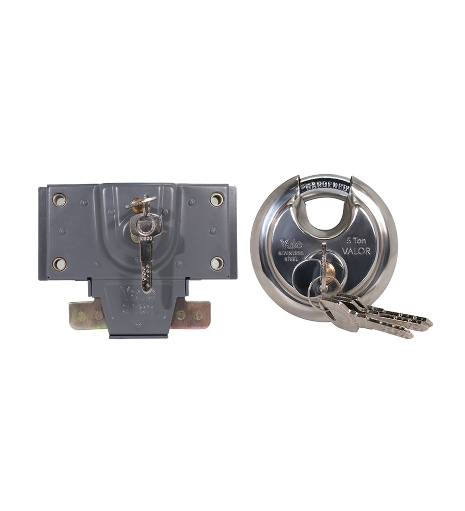 Combo pack, Disc padlock 90mm, Shutter lock