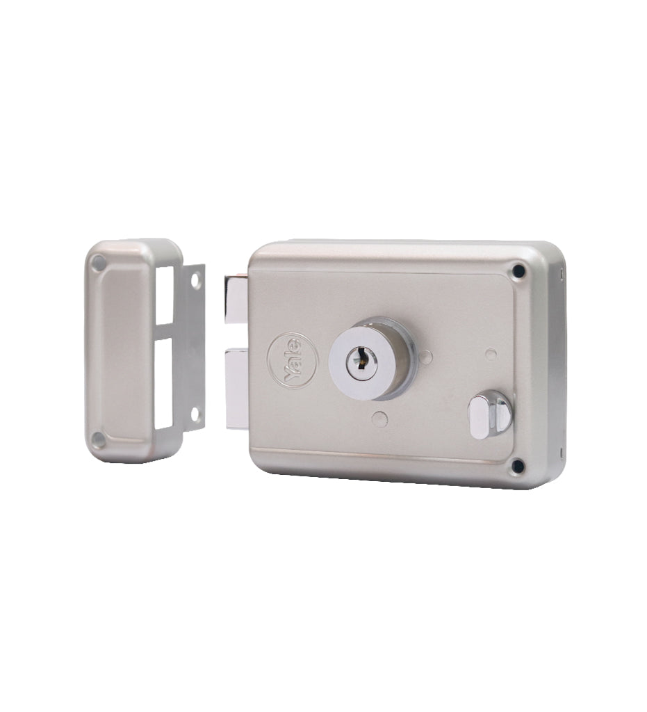 R601-DBDC, RIM Lock With Two Deadbolts, Both Side Key, Regular Key, Silver - Yale Online