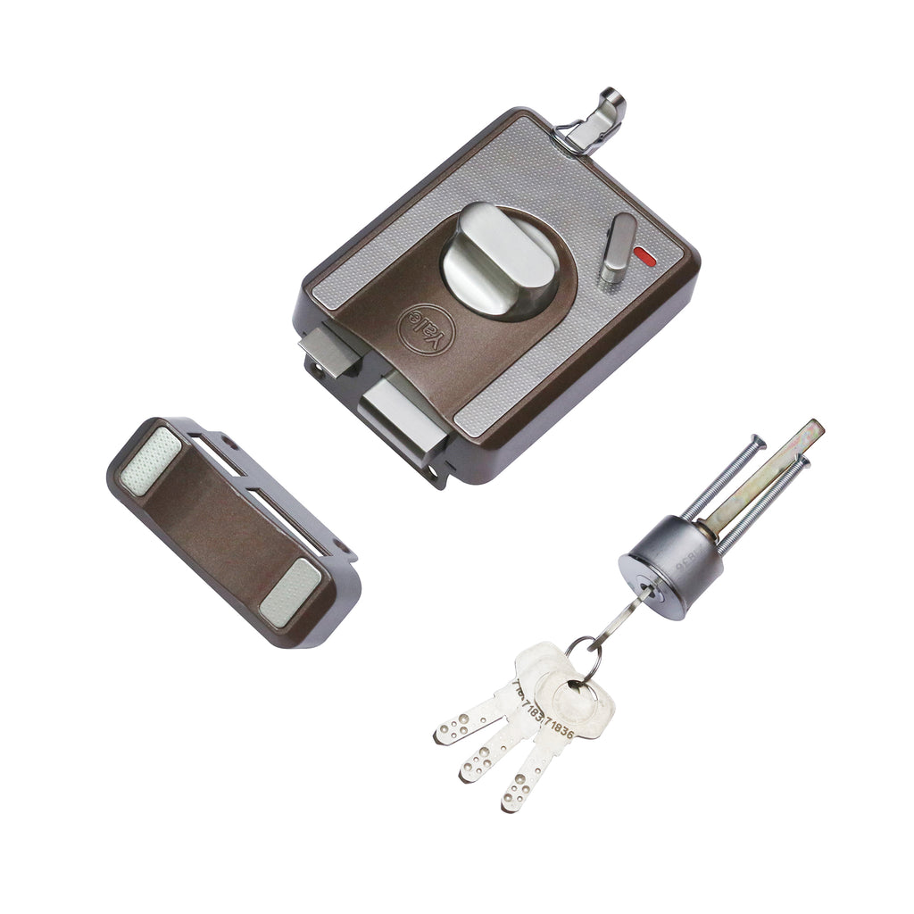 CBS-Cinco Stark Series Premium Rim Lock , Knob Inside, Brown - Yale Online