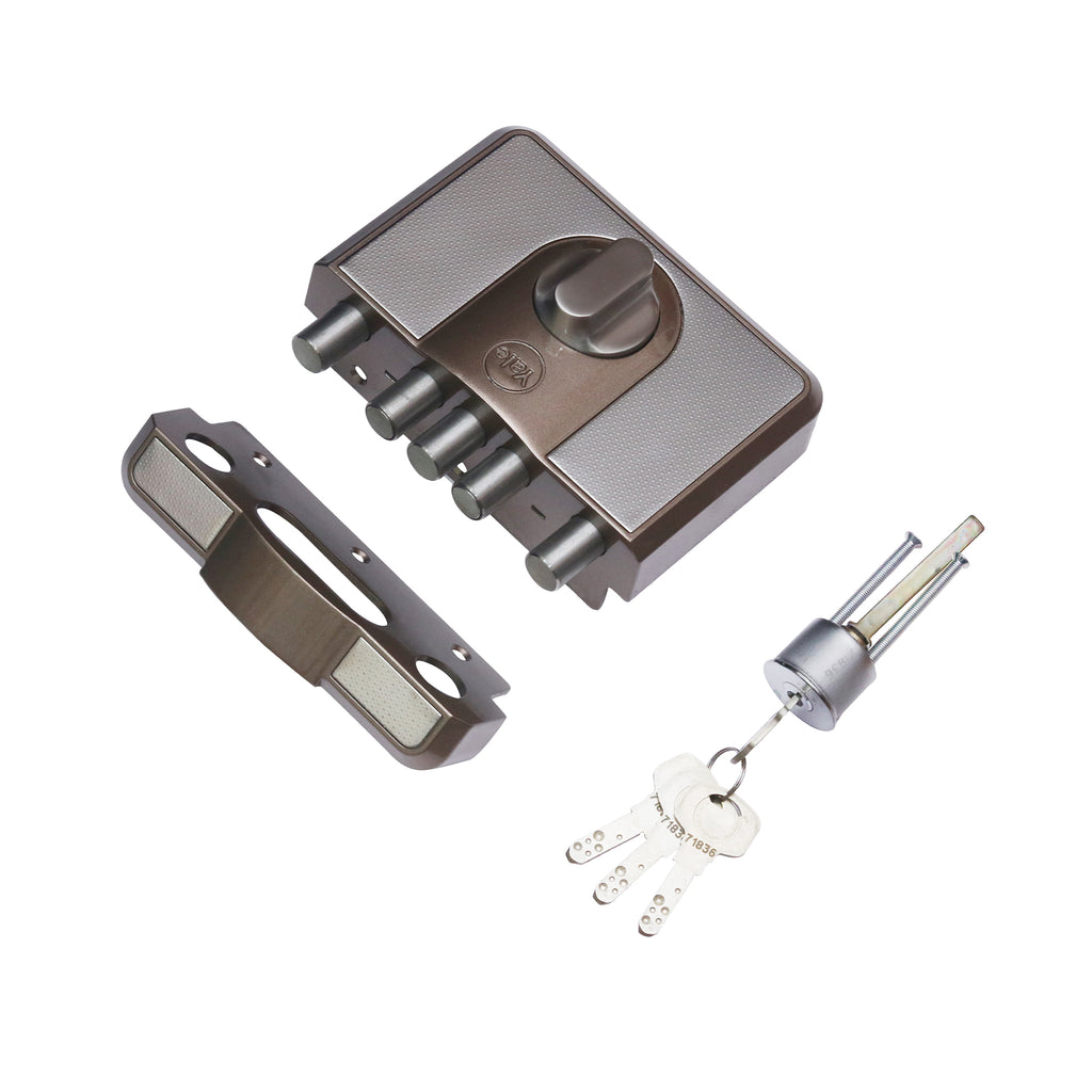 CBD-Cinco 500 Series 5 Dead Bolt Lock, Knob Inside, Brown - Yale Online