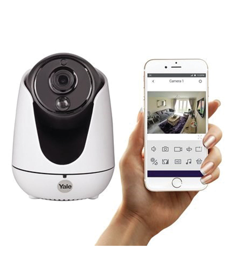 Yale WIPC-303W Home View Pan/Tilt and Zoom IP Camera - White