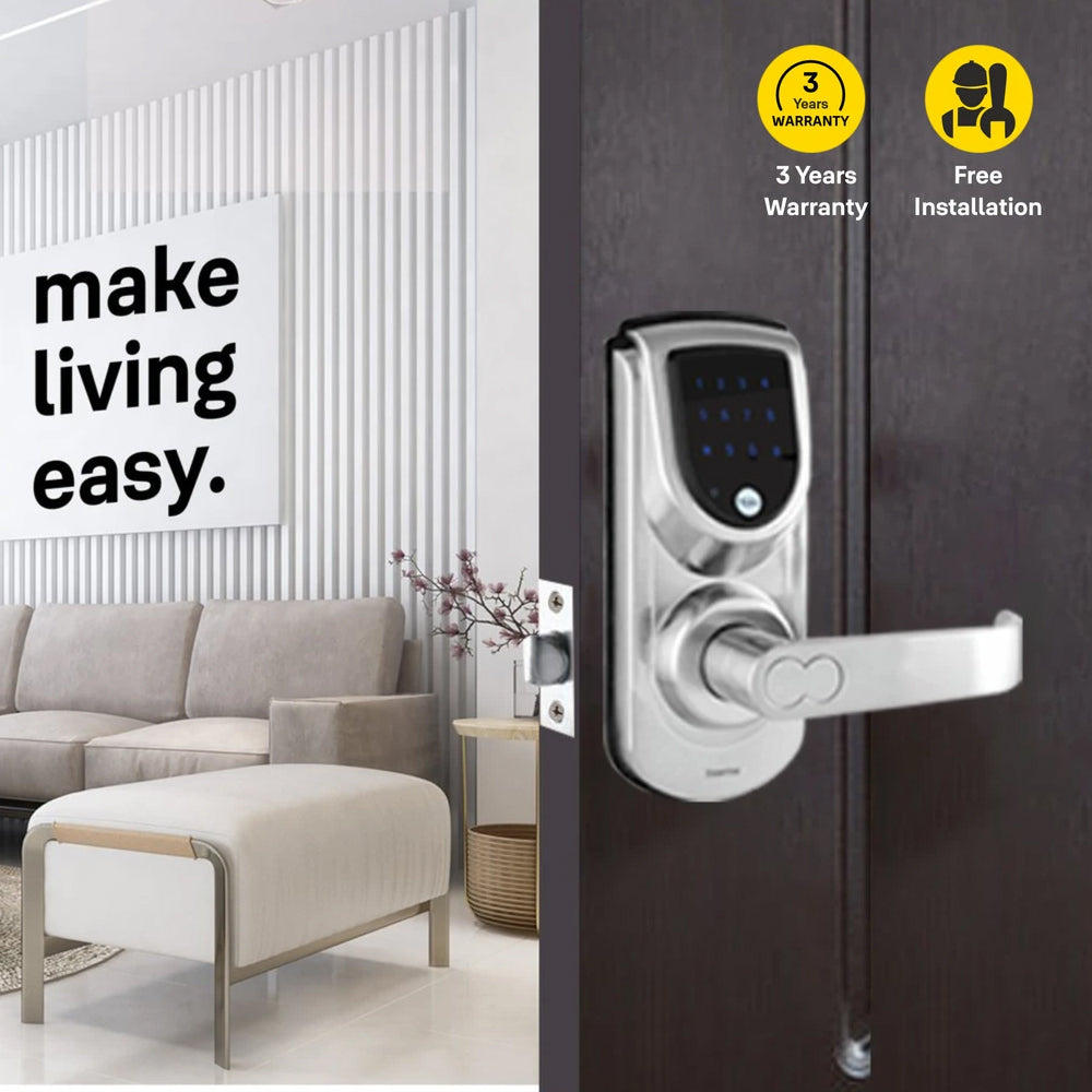 YDME 50 Digital Door Lock, Satin Nickel - Yale Online