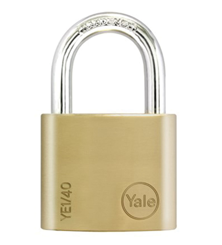 YE1/40/122 Essential Series Indoor Brass Padlock 40mm, Pack of 2