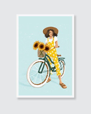 Open image in slideshow, Sunflower Girl Wall Art