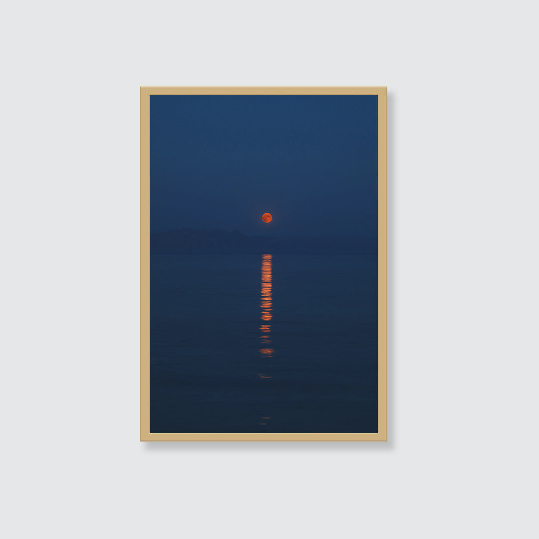 Moonrise Over the Red Sea Wall Art