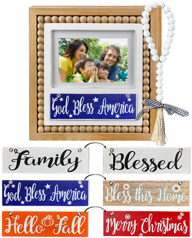 Picture Frame, Interchangeable, Seasonal, 5 Pieces