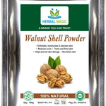 100gm Herbal magic's certified organic walnut shell powder – scrub, exfoliates, moisturizes & cleanses skin, reduces scars, tones and firms - Whole Plant Used