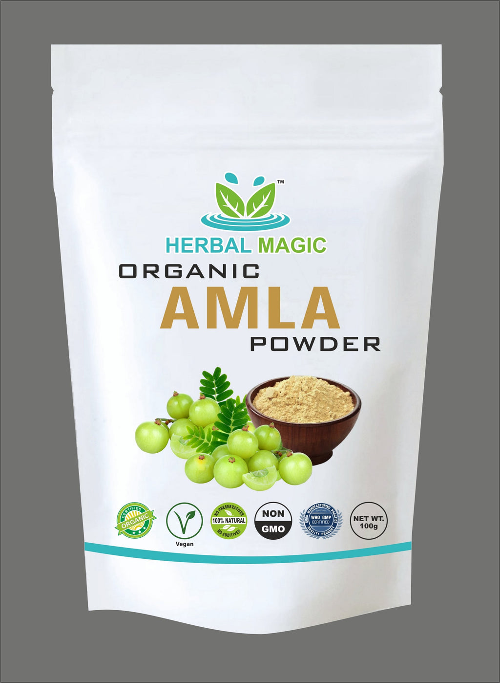Organic Amla Powder 100g (Gooseberry) Rich in Vitamin C Immunity Skin |Hair Care