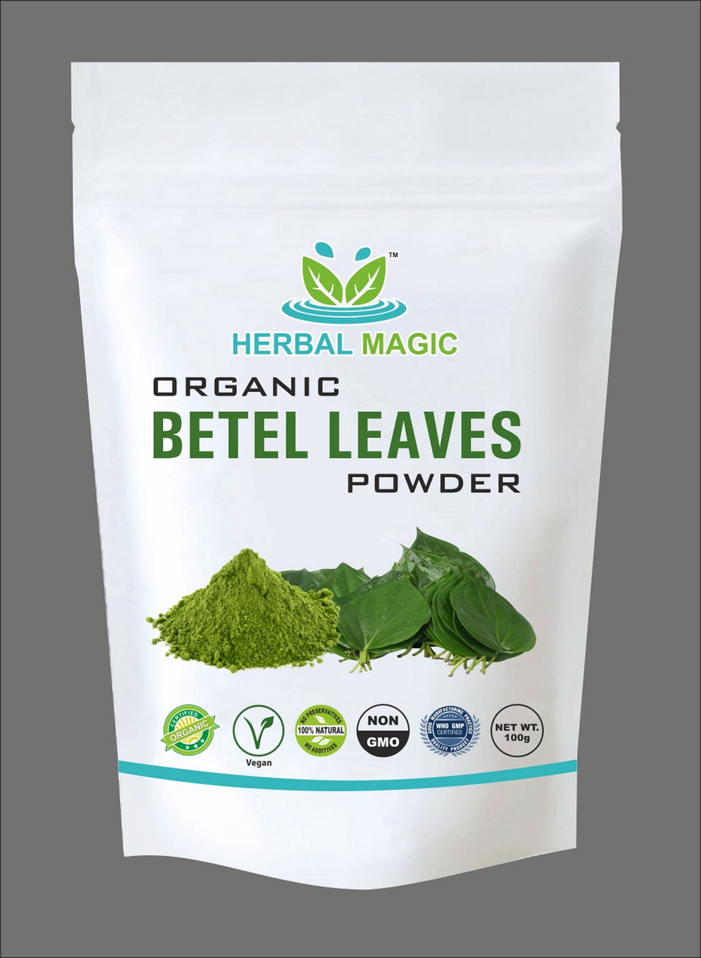 Certified Organic Betel Leaf Powder (Paan) 100g - Immunity | Digestion with Vitamin C A Calcium Iron