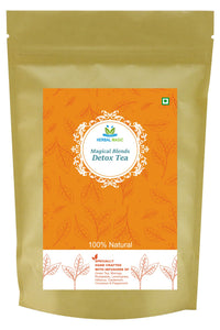 Herbal Magic's Magical Blends Detoxifying Tea - Natural Antioxidant Detox Drink - Herbal Detox & Uplifting Pack, 100g