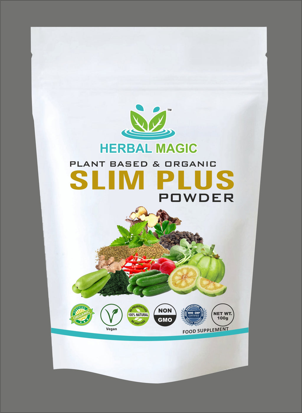 100% Pure & Natural 100g Slim Plus Powder Detox Weight Loss Immunity Digestion
