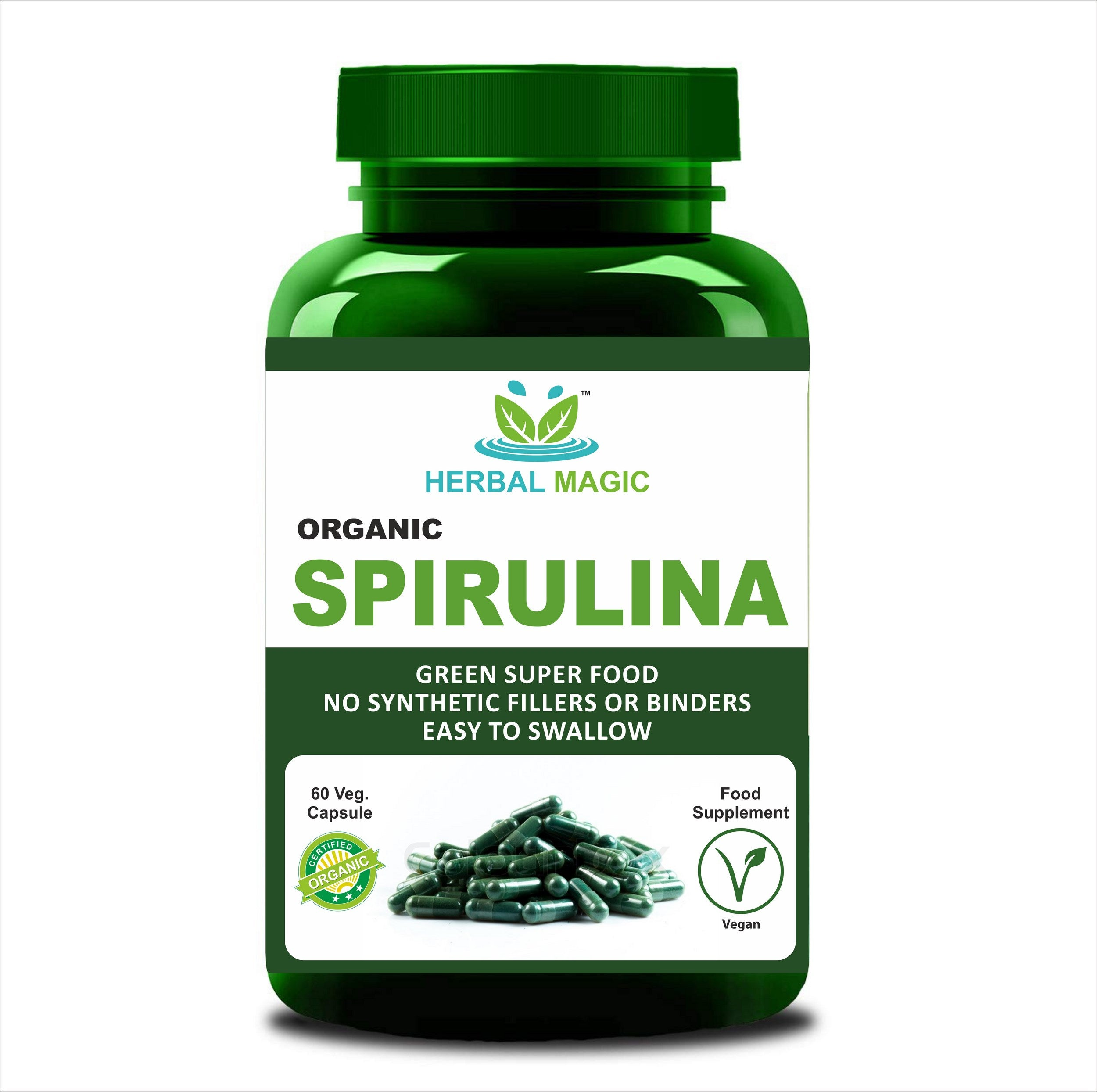 Please select one - Organic Spirulina Powder (100g) or Capsule (60) High in Protein, Calcium and Vitamins, B12, Nutrient Rich Superfood - Whole Plant Used