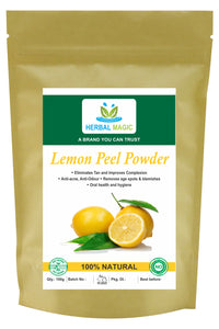 100g Lemon Peel Powder Anti Ageing Pore Cleanser Bright & Glowing Skin Face Pack