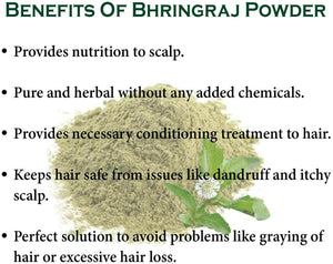 100g organic Bhringraj Powder For Hair growth / strength & Dandruff Free Scalp