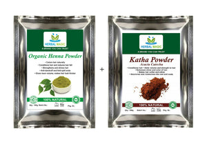 Organic Henna Powder & Katha Powder Hair Conditioner Enhances Volume Shine Gloss