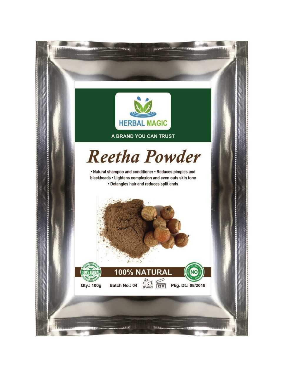 100g Natural Reetha Soapnut Powder Deep cleanser Shampoo conditioner For Hair