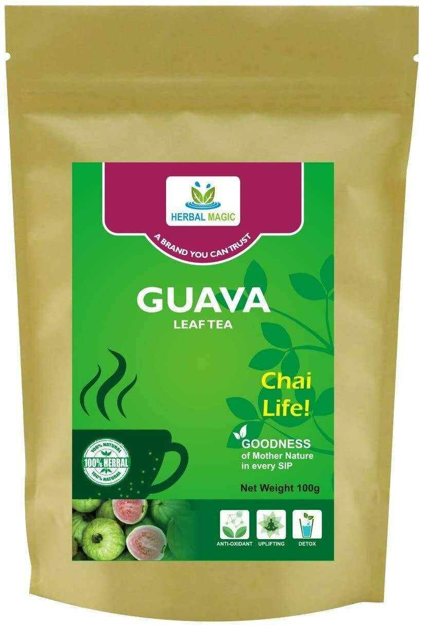 Guava Leaf Tea Cuts Antioxidants Rich Refreshing & Relaxing Beverage weight 100g