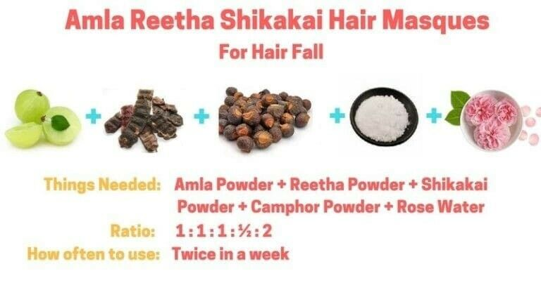 100g Each Organic Amla Reetha Shikakai Powder For Hair Care Growth ,Conditioning