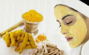100% PURE NATURAL&PESTICIDE FREE YELLOW SANDALWOOD POWDER+ROSE WATER FACE SKIN