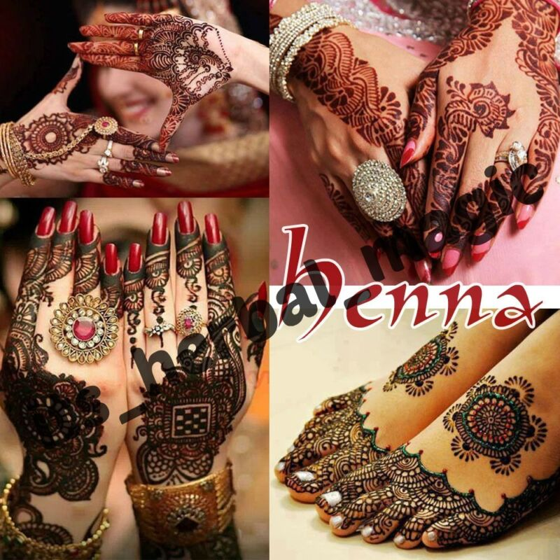 2 X Pesticide Free Golecha Instant Dark Black Henna Tattoo Cones Body Art