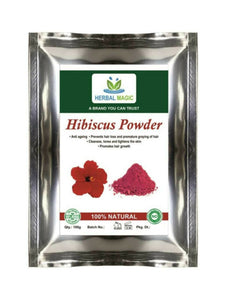 100g USDA Certified Organic Multipurpose Hibiscus Powder For Hair And Skin care
