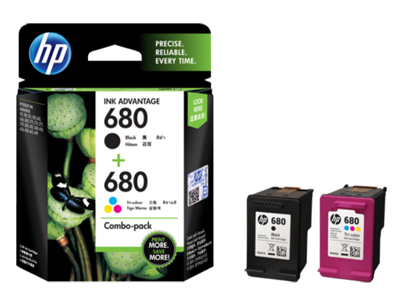 X4E78AA HP 680 Color/Black Ink Cartridge Combo 2-Pack