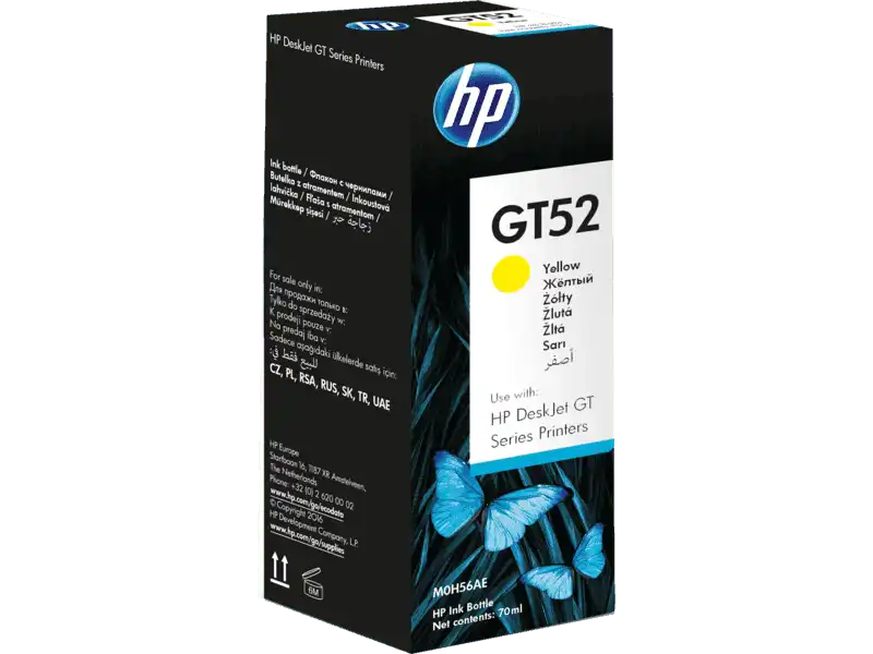 M0H55AA HP GT52 Yellow Original Ink Bottle