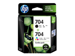 F6V33AA HP 704 Tri-color/Black Ink Cartridge Combo 2-Pack